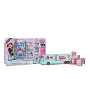 Postieľka pre bábiky so skrinkou